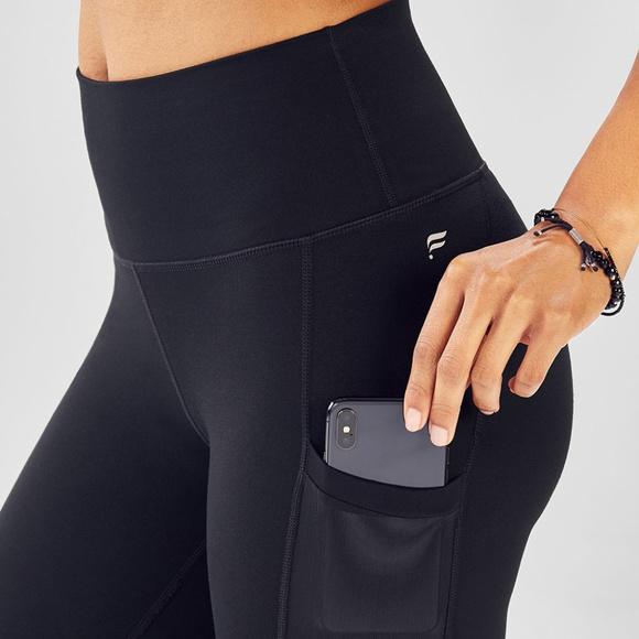 e5b99d2bad5d8 Fabletics Pants | Mila Black Mesh Pocket Legging Nwt L | Poshmark